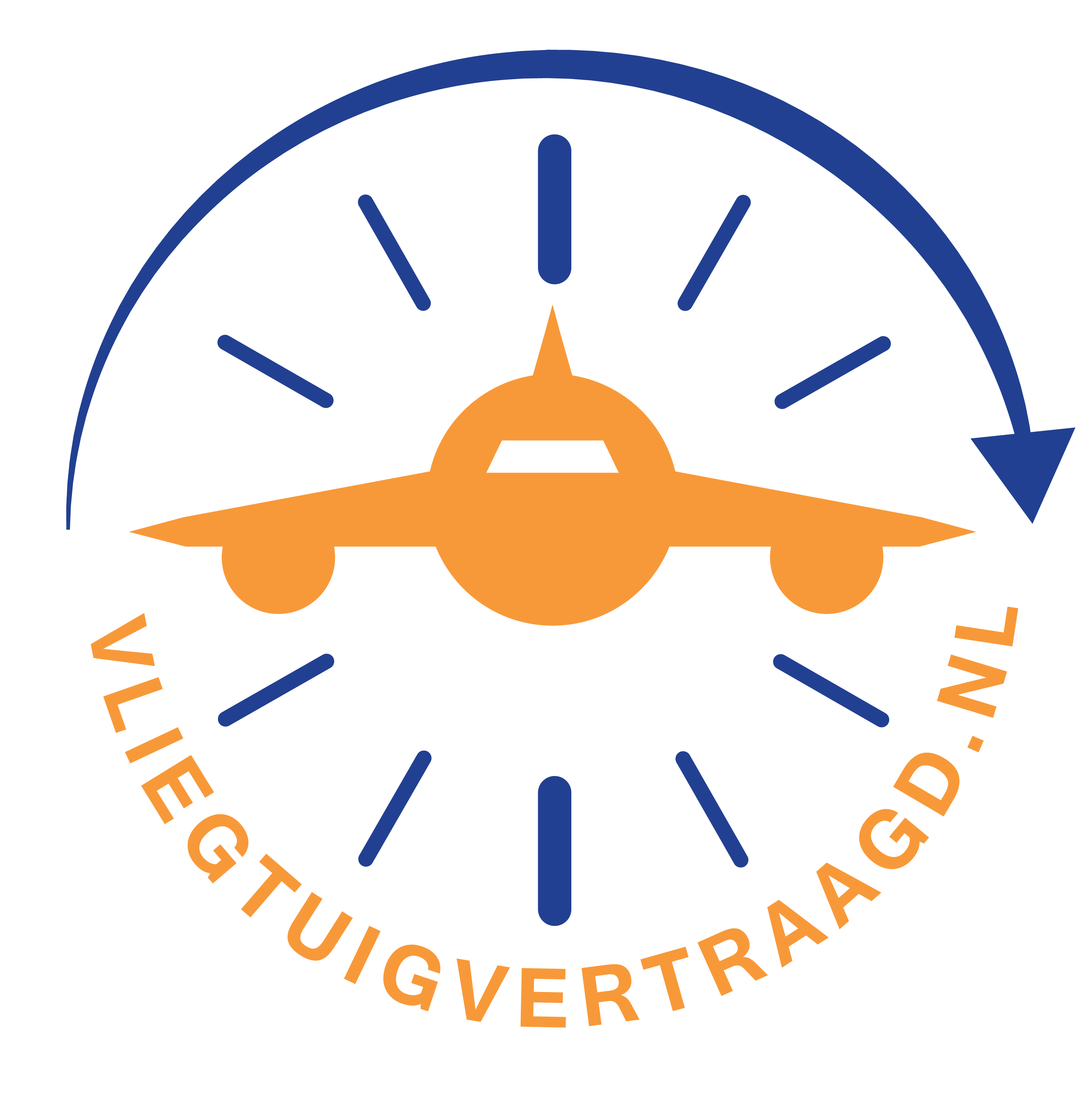 Logo-vliegtuigvertraagd